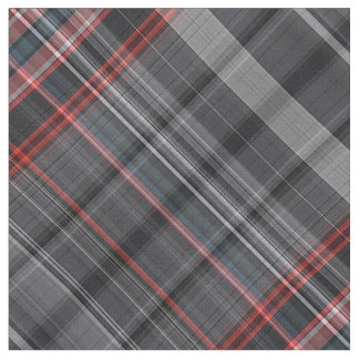 Black and red plaid fabric