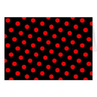 Black and Red Polka Dots Card