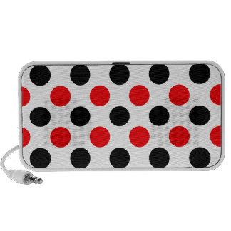 Black and Red Polkadots Pattern Mini Speakers