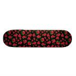 Black and Red Rose Pattern Girls skateboard