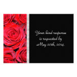 Black and Red Roses RSVP Custom Announcements