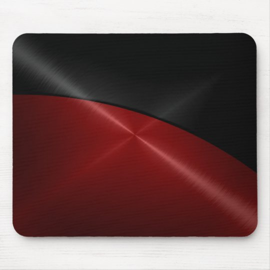 Black and Red Shiny Stainless Steel Metal Mouse
