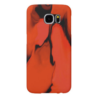 Black and Red Stain Samsung Galaxy S6 Cases
