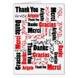 Black and Red Thank You Word Cloud