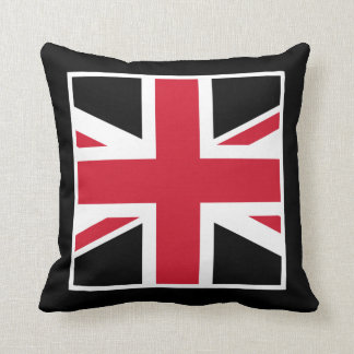 Black and Red Union Jack Cushion