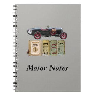 Black and Red Vintage Car Spiral Notebook