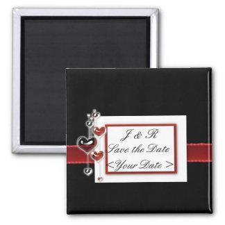 Black and Red wedding set Magnet