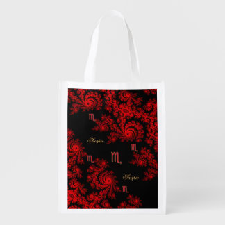 Black and Red Zodiac Sign Scorpio Fractal