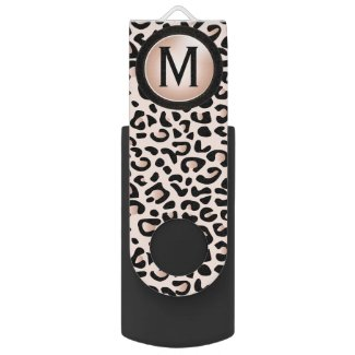 Black and Rose Leopard Animal Print | DIY Monogram