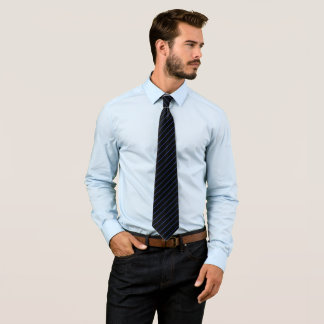 Black and Royal Blue Pinstripe, Double Tie