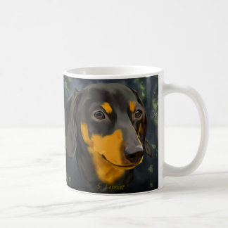 Black and Rust Dachshund Dog Coffee Mug