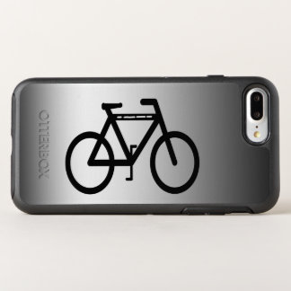 Black and Silver Bicycle Abstract OtterBox Symmetry iPhone 8 Plus/7 Plus Case