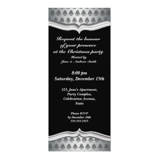 Black and silver Christmas invitations