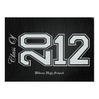 Black and Silver Class of 2012 Graduation Invites