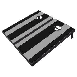 Black and Silver Cornhole Set