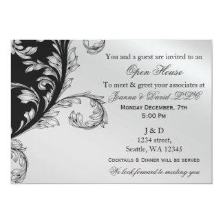 black and silver Corporate party Invitation