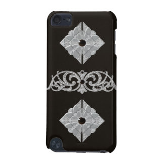 Black and Silver Effect iPod Touch Case