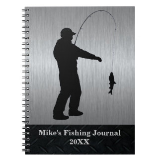 Black and Silver Fishing Journal