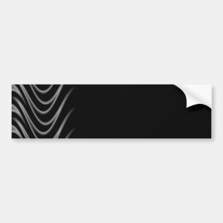 Black and Silver Flames Bumper Sticker