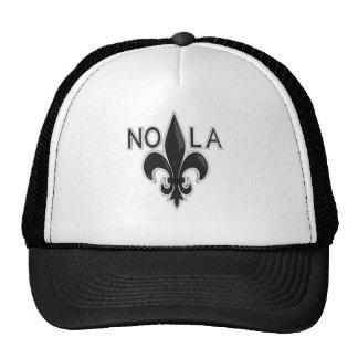 Black and Silver Fleur de Lis - NOLA Cap