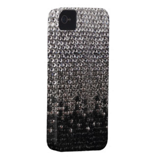 Black and Silver Glitter Bling Cover iPhone 4 Case