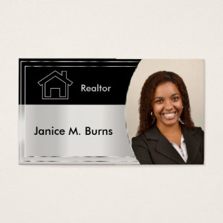Black and Silver Gray Realtor Photo Design