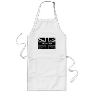 Black and Silver Grey England Union Jack Long Apron