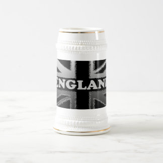 Black and Silver Grey Union Jack Flag Cases Beer Stein