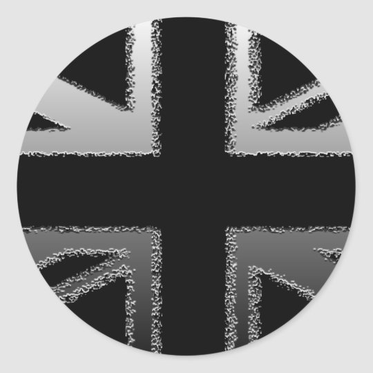 Black and Silver Grey Union Jack Flag Classic
