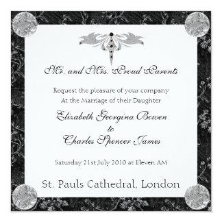 Black and Silver Invitation