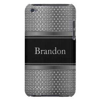 Black and Silver Metallic Mesh | Personalize iPod Touch Covers