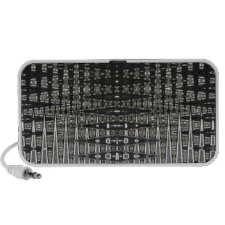 Black And Silver Pattern Portable Speaker