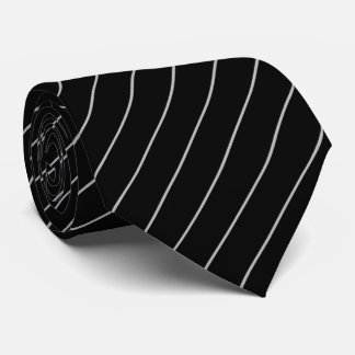Black and Silver Pinstripe Tie
