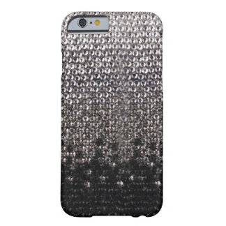 Black and Silver Rhinestone Glitter iPhone 6 case Barely There iPhone 6 Case