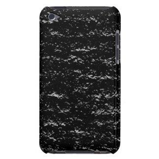 Black and Silver Stone iPod Case-Mate Case
