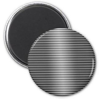 Black and Silver Stripes Fridge Magnet