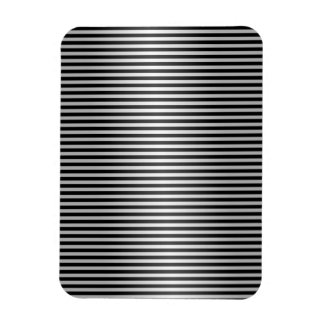 Black and Silver Stripes Magnets