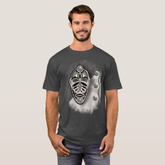 BLACK AND SIVER MASK 118 PATCH T-Shirt