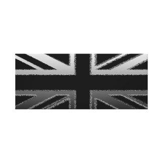 Black and Slilver Grey Union Jack Canvas Print