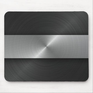 Black And Steel Mouse Mat