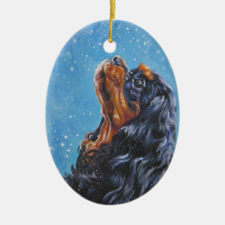 Black and Tan Cavalier King Charles  Xmas Ornament