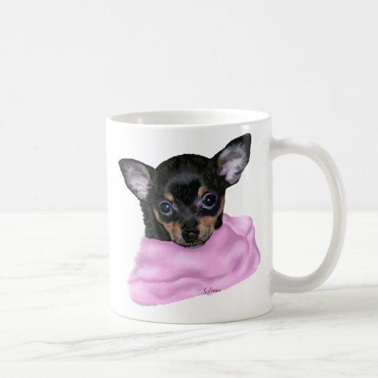 Black and Tan Chihuahua Puppy Coffee Mug