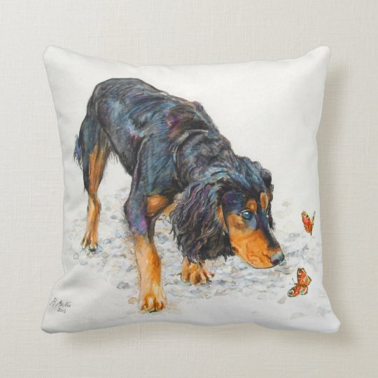 Black and tan Cocker Spaniel with Butterflies Throw