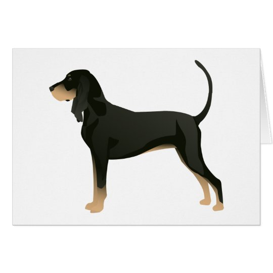 Black and Tan Coonhound Basic Breed Customisable Card