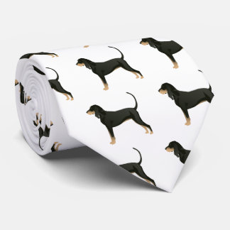 Black and Tan Coonhound Basic Breed Customizable Tie