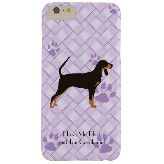 Black and Tan Coonhound on Lavender Weave 6/6s+