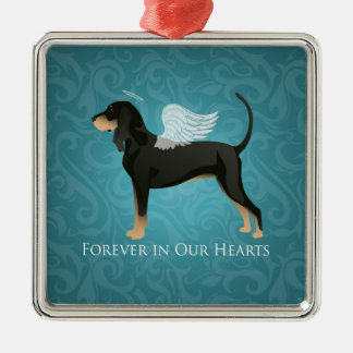 Black and Tan Coonhound Pet Dog Memorial Angel Christmas Ornament