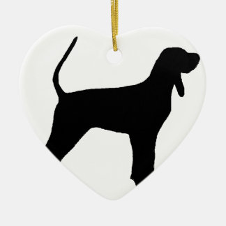 black and tan coonhound silo black christmas ornament