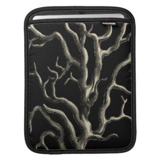 Black and Tan Coral iPad Sleeve