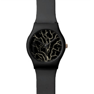 Black and Tan Coral Wristwatch